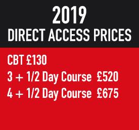 Biketec Direct Access Training Courses & CBT Training Courses