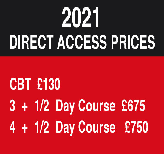 Biketec Direct Access Training Courses & CBT Training Courses